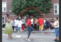Dorchester Bay EDC: Jumping rope at a community social